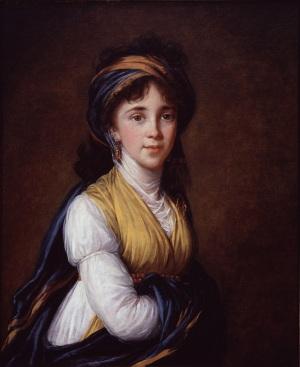 Elisabeth Louise Vigée-LeBrun, Portrait of Princess Belozersky, 1798 (National Museum of Women in the Arts)