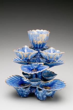 William Littler, Sweetmeat Stand; West Pans, East Lothian, Scotland, 1765–70, earthenware, lead glaze (Charlotte: The Mint Museum)