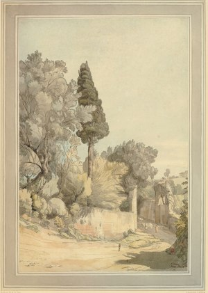 Francis Towne, Near the Arco Scuro, 1780, watercolour with pen and ink and some gum arabic, 320 x 467 mm (London: The British Museum)