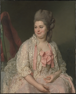 Joseph Siffred Duplessis, Madame de Saint-Maurice, 1776 (exhibited in Paris at the Salon of 1776), oil on canvas (NY: The Metropolitan Museum of Art)