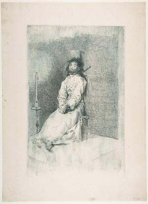 Francisco de Goya y Lucientes, The Garroted Man (El agarrotado), ca. 1778–80, etching, 32.7 x 21.4 cm (New York: The Metropolitan Museum of Art, Rogers Fund, 1920, 20.22)