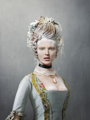 Wedding dress, 1759; photo by Erwin Olaf, model is Ymre Stiekema.