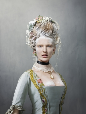 Wedding dress, 1759; photo by Erwin Olaf, model is Ymre Stiekema.
