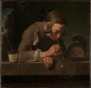 Jean-Siméon Chardin, Soap Bubbles, ca. 1733–34. Metropolitan Museum of Art, New York / Wentworth Fund, 1949