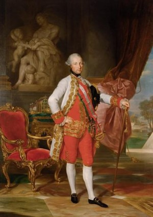 Anton von Maron, Emperor Joseph II with the Statue of Mars, 1775 (Vienna: KHM-Museumsverband)