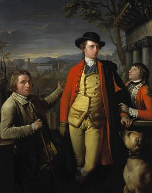 Gavin Hamilton, Portrait of Douglas Hamilton, 8th Duke of Hamilton and 5th Duke of Brandon (1756–1799), with Dr John Moore (1730–1802) and Sir John Moore (1761–1809), as a young boy, 1775–77 (Edinburgh: Scottish National Portrait Gallery)