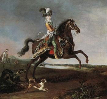 Louis-Auguste Brun, Portrait of Marie-Antoinette on Horseback, 1783, oil on canvas, 59 x 64.5 cm (Musée national des châteaux de Versailles et de Trianon, Versailles)