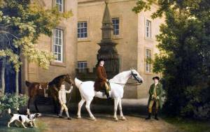 3rd-Duke-of-Portland-riding-out-past-the-Riding-School-at-Welbeck-Abbey.1