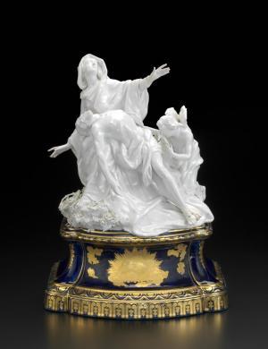Chelsea Porcelain Factory, London (manufacturer), Joseph Willems (modeller), Pietà, ca. 1761, porcelain (soft-paste), 38.5 x 28.5 x 22.8 cm (Melbourne: National Gallery of Victoria)