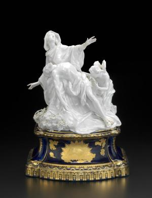 Chelsea Porcelain Factory, London (manufacturer), Joseph Willems (modeller), Pietà, ca. 1761, porcelain (soft-paste), 38.5 x 28.5 x 22.8 cm (Melbourne: National Gallery of Victoria)