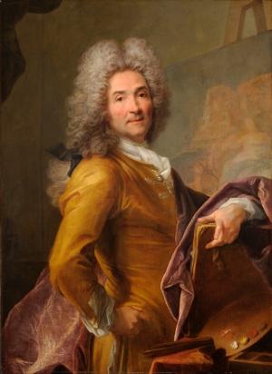 Joseph Vivien, Self-portrait with Palette, 1715–20