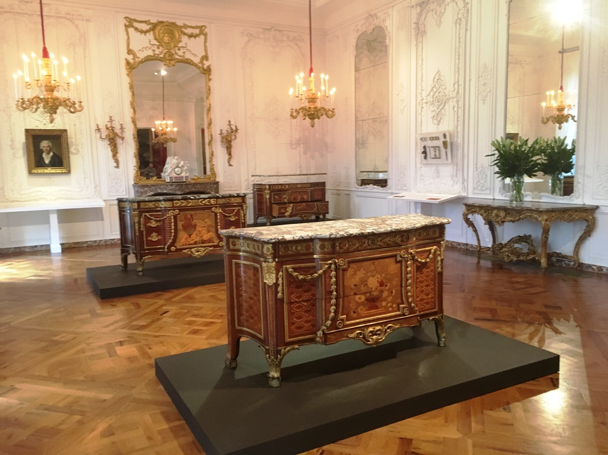 Installation View Of A Closer Look: Spotlight On French Royal Furniture By  Jean Henri Riesener (1734u20131806) In The White Drawing Room At Waddesdon  Manor, ...