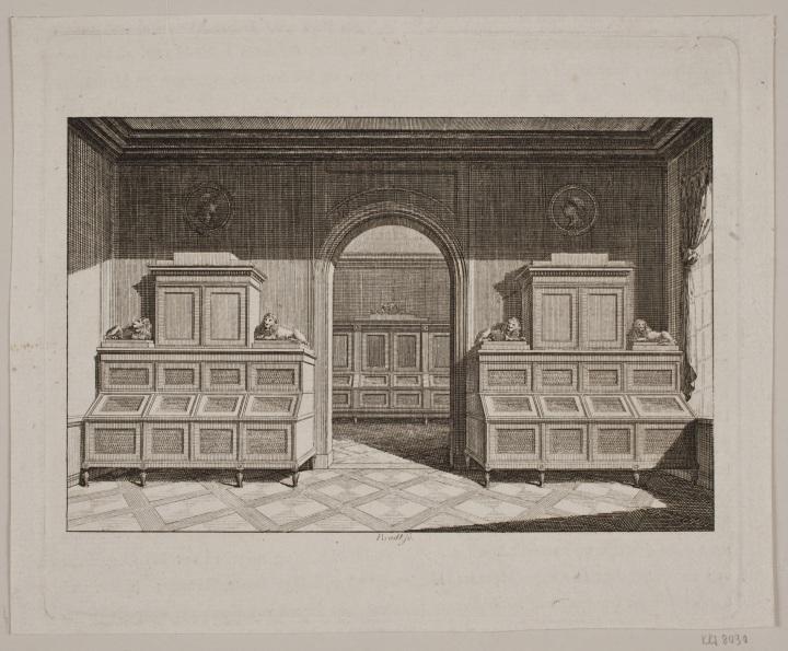Frederik Ludvig Bradt (1747-1829), Moentkabinettet paa Rosenborg, 1791
