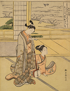 Suzuki Harunobu, Mitate-e of a Poem by Saigyō Hōshi. 1767/68 (Ontario: ROM, Sir Edmund Walker Collection 926.18.113)
