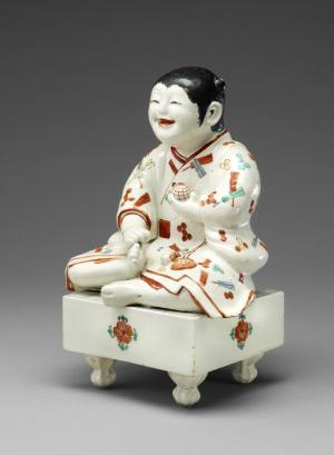 Boy on a Go Board, Kakiemon kiln, Arita, Japan, ca. 1670–80, nigoshide porcelain (London: The British Museum)