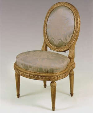 Chair made by Louis Delanois for Louis XV's mistress Madame du Barry (Versailles)