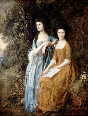 Thomas Gainsborough, Portrait of Elizabeth and Mary Linley, ca.1772, retouched 1785 (Dulwich Picture Gallery)