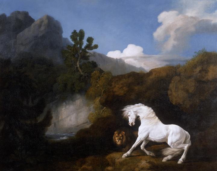 HorseFrightenedbyaLionWalker