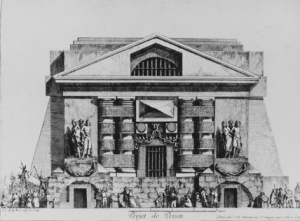 Jean Charles Delafosse, Project for a Prison (exterior view, rear), 18th century (London: Courtauld Institute of Art)