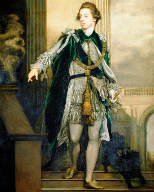 Sir Joshua Reynolds, Portrait of Frederick, 5th Earl of Carlisle, 1769, oil on canvas, 241.4 × 150 cm (Tate Britain)
