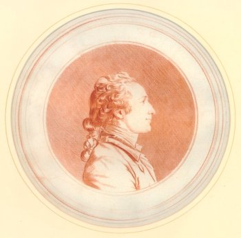 Louis Rolland Trinquesse, A Young Man in Profile to the Right, ca.1770, red chalk over a red-chalk counterproof (London: The British Museum, 1928,1110.30).