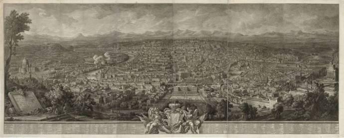 Prospetto dell' Alma Città di Roma visto dal Monte Gianicolo