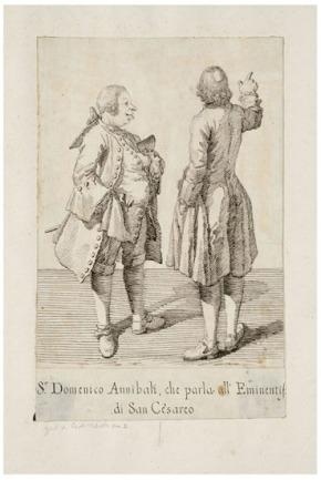 Signor Domenico Annibali, che parla all'Eminentissimo di San Cesareo