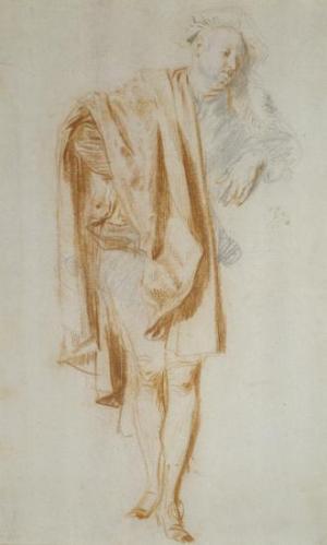Jean Antoine Watteau, Standing Figure (Nicolas Vleughels), ca. 1718–19 (Frankfurt am Main: Städel Museum, Frankfurt am Main)