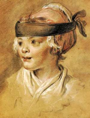 Jean Michel Moreau le Jeune, Portrait of the Artist's Daughter at the Age of Two, ca. 1772; black and red chalk heightened with white on buff paper (London: The British Museum).