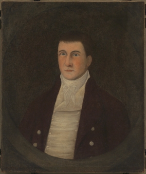 Joshua Johnson, Portrait of John Westwood, ca. 1807–08, oil on canvas (Washington, D.C.: Collection of the Smithsonian National Museum of African American History and Culture, 2010.25ab).