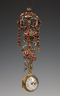 Watch on a chatelaine