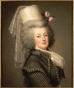 Adolf Ulrik Wertmüller, Marie-Antoinette in Amazon Dress, 1788 (RMN-Grand Palais / Château de Versailles / Gérard Blot).