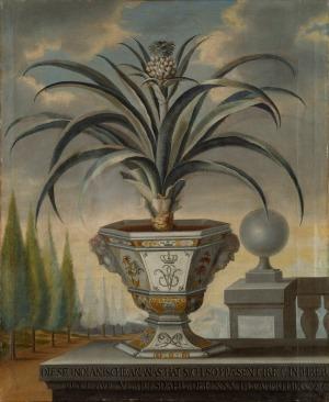 David von Cöln, Pineapple Plant, 1729, oil on canvas, 112 x 91 cm (Stockholm: Nationalmuseum / Gripsholm Castle).