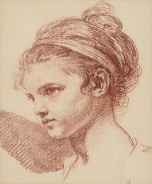 Jean-Baptiste Greuze, Tete de Jeune Fille
