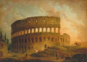 Hubert Robert, View of the Colosseum.