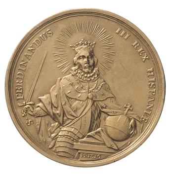 Francisco Tomás Prieto, Segundo premio de primera clase de la Academia de San Fernando, 1753, Silver-gilt, 44,5 mm diameter (Madrid: Prado)