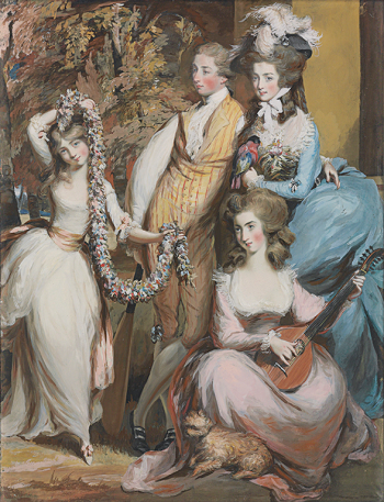 Daniel Gardner, Portrait of Mary Sturt of Crichel and Her Three Eldest Children, ca. 1777, pencil, pastel, and opaque watercolor on paper (Private collection).