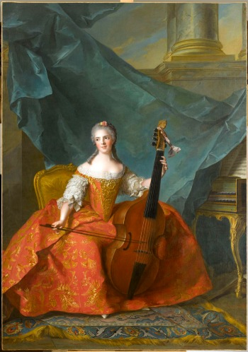 Jean-Marc Nattier, Portrait of Madame Henriette of France Playing the Viola da Gamba (RMN-GP / Château de Versailles).