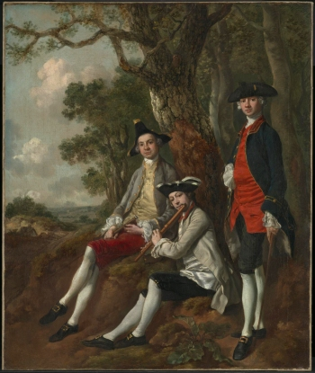 Peter Darnell Muilman, Charles Crokatt and William Keable in a Landscape c.1750 Thomas Gainsborough 1727-1788 Purchased jointly with Gainsborough's House, Sudbury with assistance from the National Heritage Memorial Fund, the Art Fund and the Friends of the Tate Gallery 1993 http://www.tate.org.uk/art/work/T06746