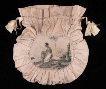 D2016-JBC-1005-0009 2016-166 view 1; Workbag; England, Birmingham, worn in Ireland, Christianstown; 1827