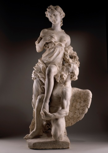Paul Heermann (1673–1732), Saturn and Ops, white marble; 139.5cm (55in) high, 66cm (26in) wide, 53cm (21in) deep.