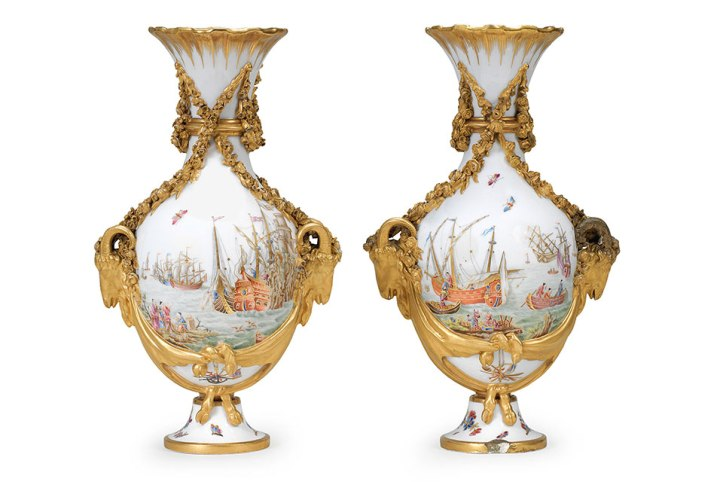 At Bonhams Svres Vases Enfilade