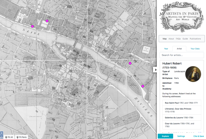 Artists in Paris: Mapping the 18th-Century Art World | Enfilade